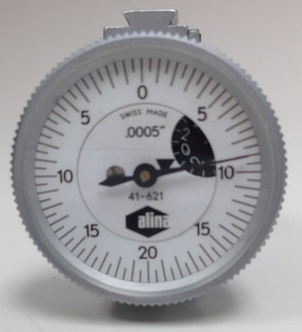 "Alina 41-621 Top Mounted Dial Test Indicator, .016"" Range, .0005"" Graduation *USED/RECONDITIONED*"