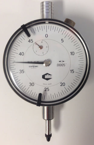 "Alina 513 AUK Compac Dial Indicator, 0-.500"" Range, .0005"" Graduation *USED/RECONDITIONED*"