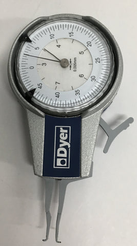Dyer 104-200-12763 Internal Dial Caliper Gage, 2.5-7.5mm Range, 0.005mm Graduation *MODIFIED CLOSEOUT*