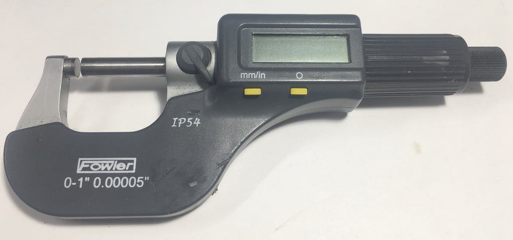 "Fowler 54-860-001 Xtra-Value II Electronic Micrometer, 0-1""/0-25mm Range, .00005""/0.001mm Resolution *USED/RECONDITIONED*"