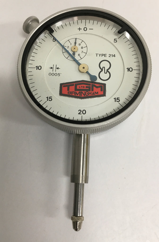 "Mercer 214 Dial Indicator, 0-.400"" Range, .0005"" Graduation *CLOSEOUT*"
