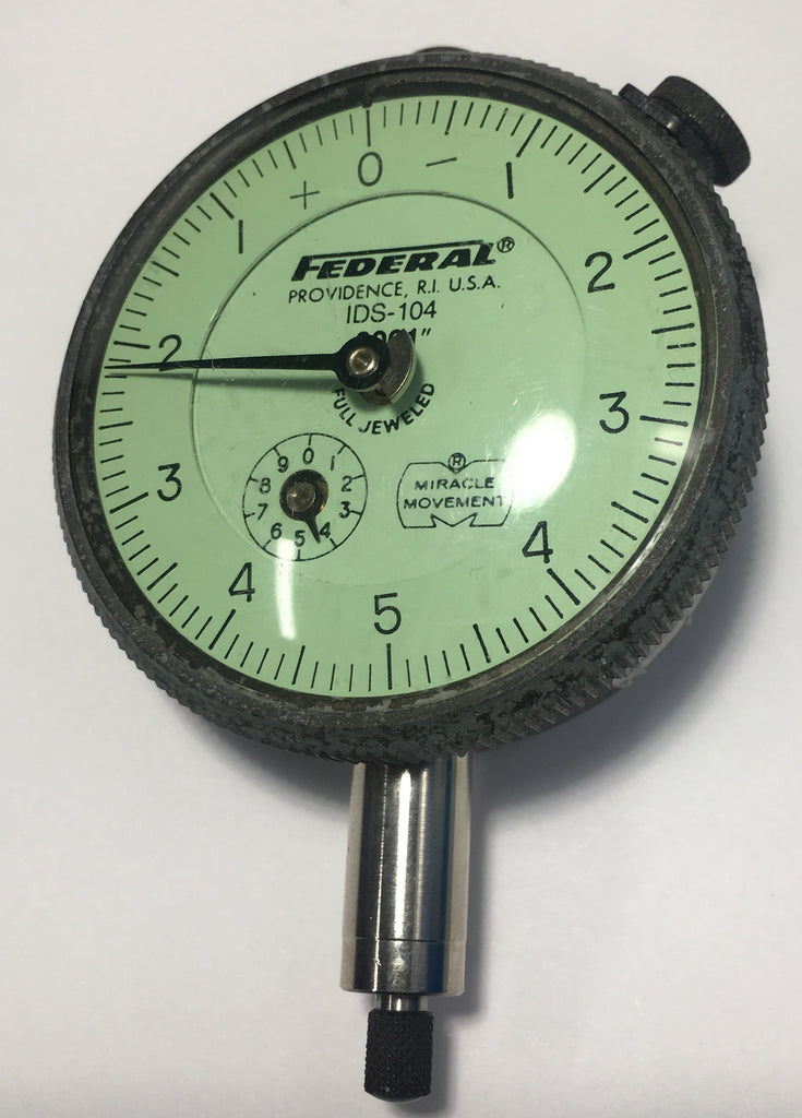 "Federal IDS-104 Dial Indicator, 0-.025"" Range, .0001"" Graduation *USED/RECONDITIONED*"