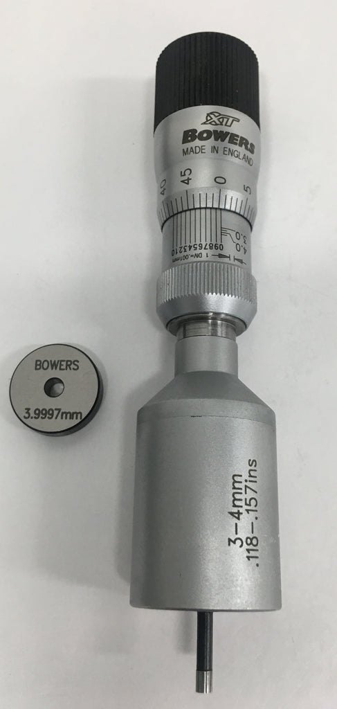 Fowler 52-255-407-0 Bowers XT Series Holmike Internal Micrometer, 3-4mm Range, 0.001mm Graduation *New - Open Box Item*