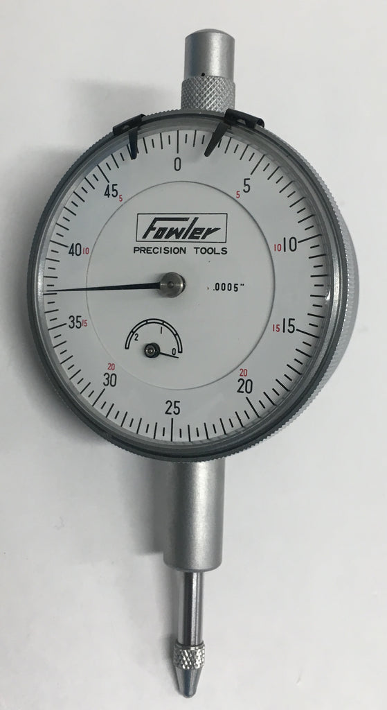 "Fowler 52-520-125 Dial Indicator, 0-.250"" Range, .0005"" Graduation  *NEW CLOSEOUT ITEM*"