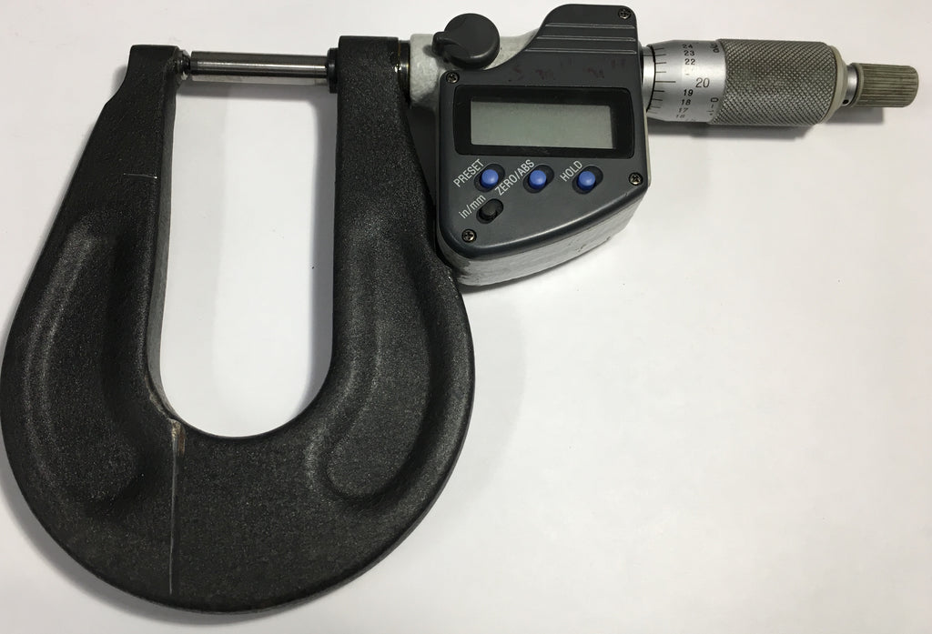 "Mitutoyo 350-351 Digimatic Head Modified Sheet Metal Micrometer, 0-1""/25mm Range, .00005""/0.001mm Resolution *USED/RECONDITIONED*"