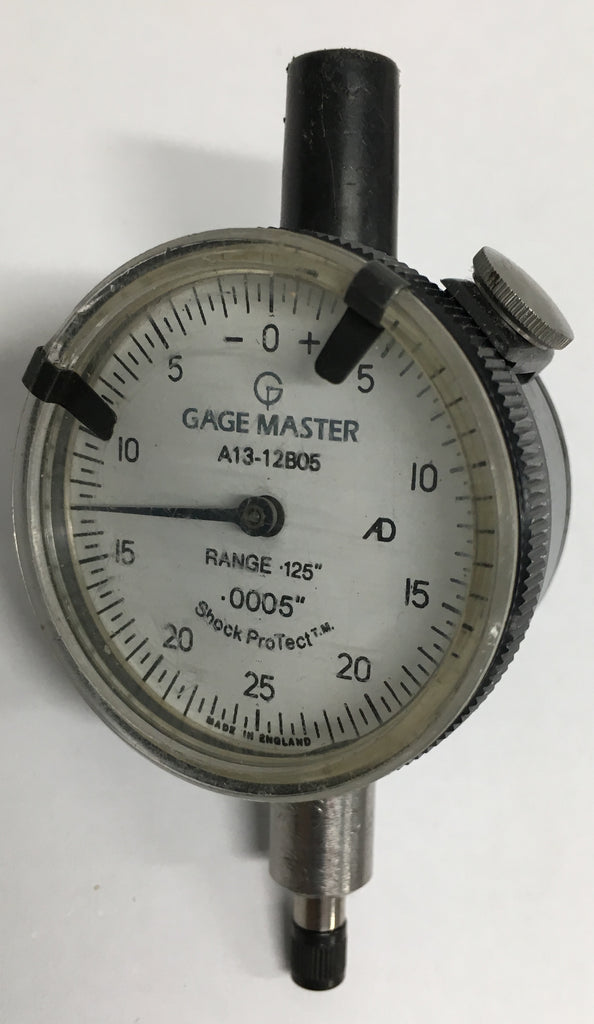 "Gage Master A13-12B05 Dial Indicator, 0-.125"" Range, .0005"" Graduation *USED/RECONDITIONED*"