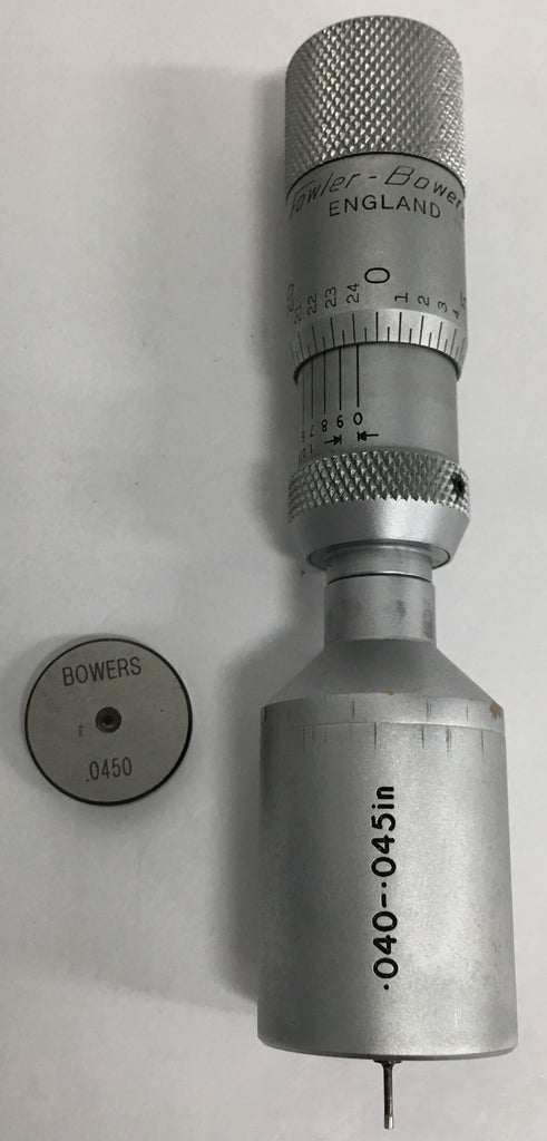 "Fowler 52-255-115 Bowers Holmike Internal Micrometer, .040-.045"" Range, .0001"" Graduation *New - Open Box Item*"