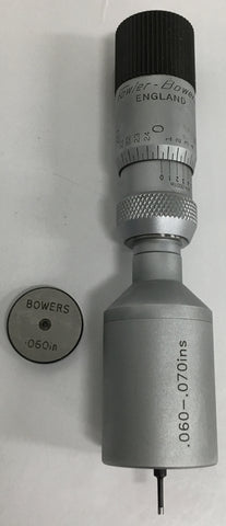 "Fowler 52-255-175 Bowers Holmike Internal Micrometer, .060-.070"" Range, .0001"" Graduation *New-Open Box Item*"