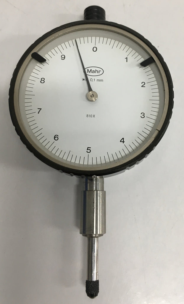 Mahr 810X Dial Indicator, 0-10mm Range, 0.01mm Graduation *USED/RECONDITIONED*