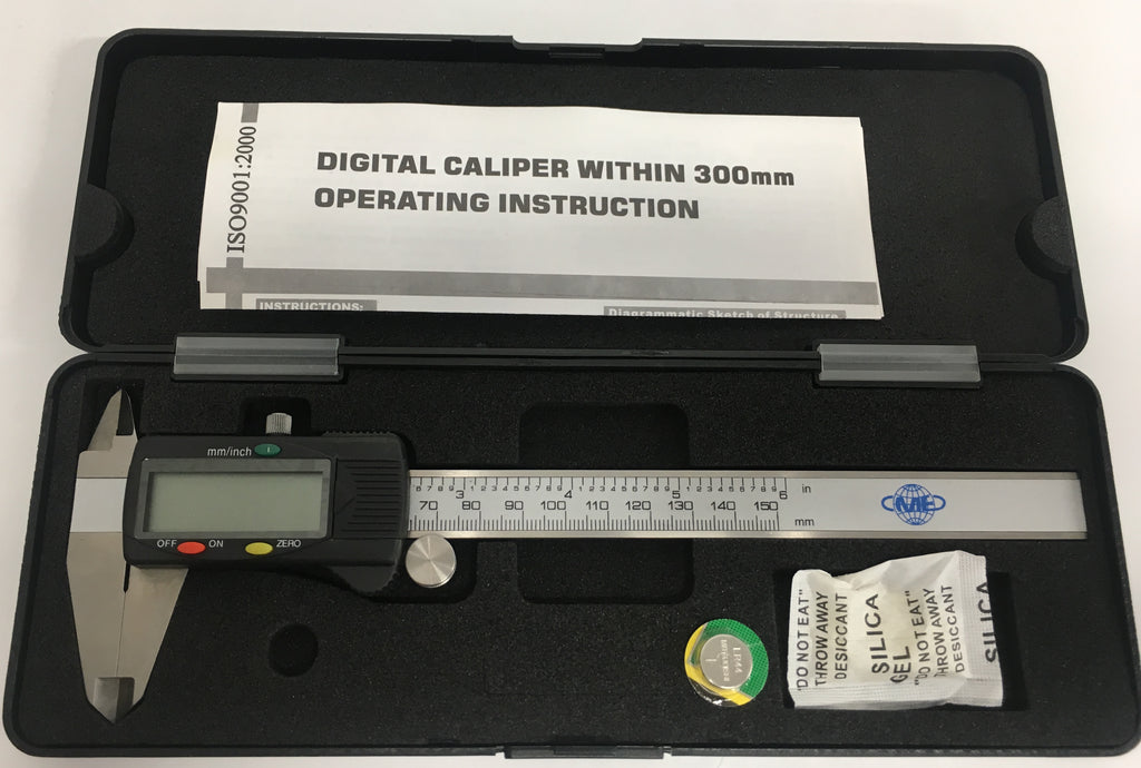 "CME Value Electronic Caliper,  0-6""/0-150mm Range, .0005""/0.01mm Resolution *NEW - CLOSEOUT*"