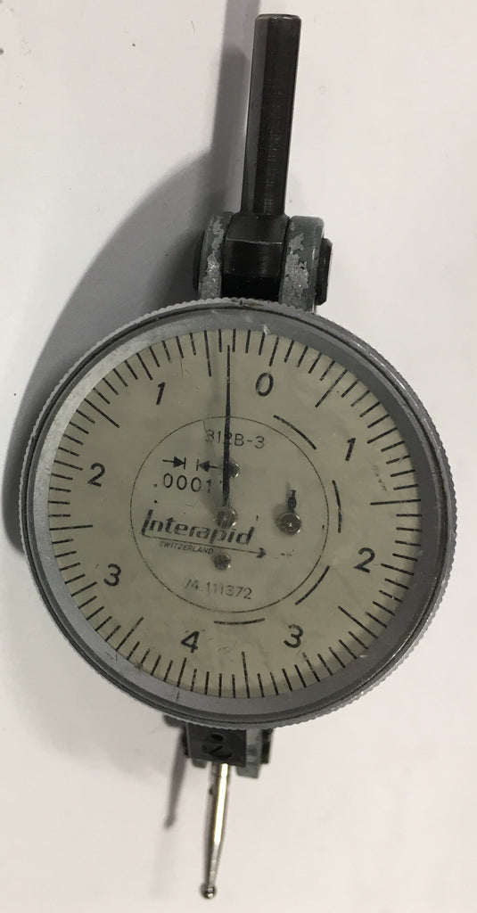 "Brown & Sharpe 74.111372  Interapid 312b-3 Dial Test Indicator, .016"" Range, .0001"" Graduation *USED/RECONDITIONED*"