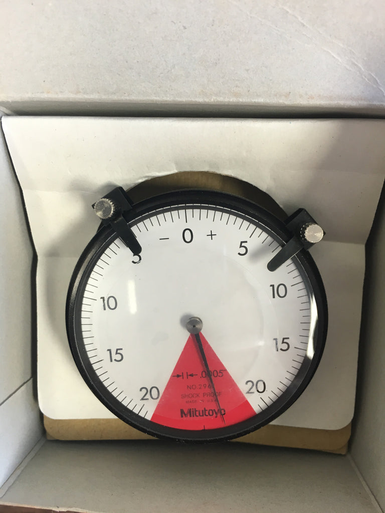 "Mitutoyo 2961 Dial Indicator, Back Plunger, 0-.040"" Range, .0005"" Graduation *New-Open Box Item"