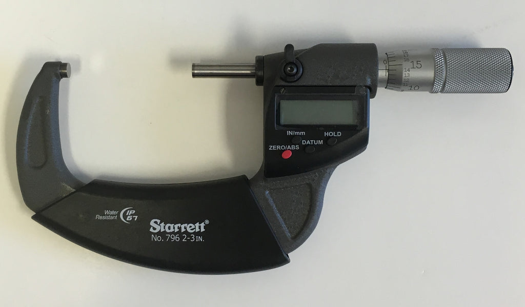 "Starrett 796XFL-3 Electronic Micrometer without SPC Output, 2-3""/50-75mm Range, .00005""/0.001mm Resolution *DEMO*"