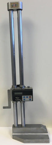 "Mitutoyo 192-606 Digimatic Height Gage, 0-18""/0-450mm Range, .0005 /0.01mm Resolution *USED/RECONDITIONED*"
