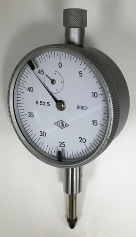 "Alina K52S Dial Indicator, 0-.500"" Range, .0005"" Graduation *USED/RECONDITIONED*"
