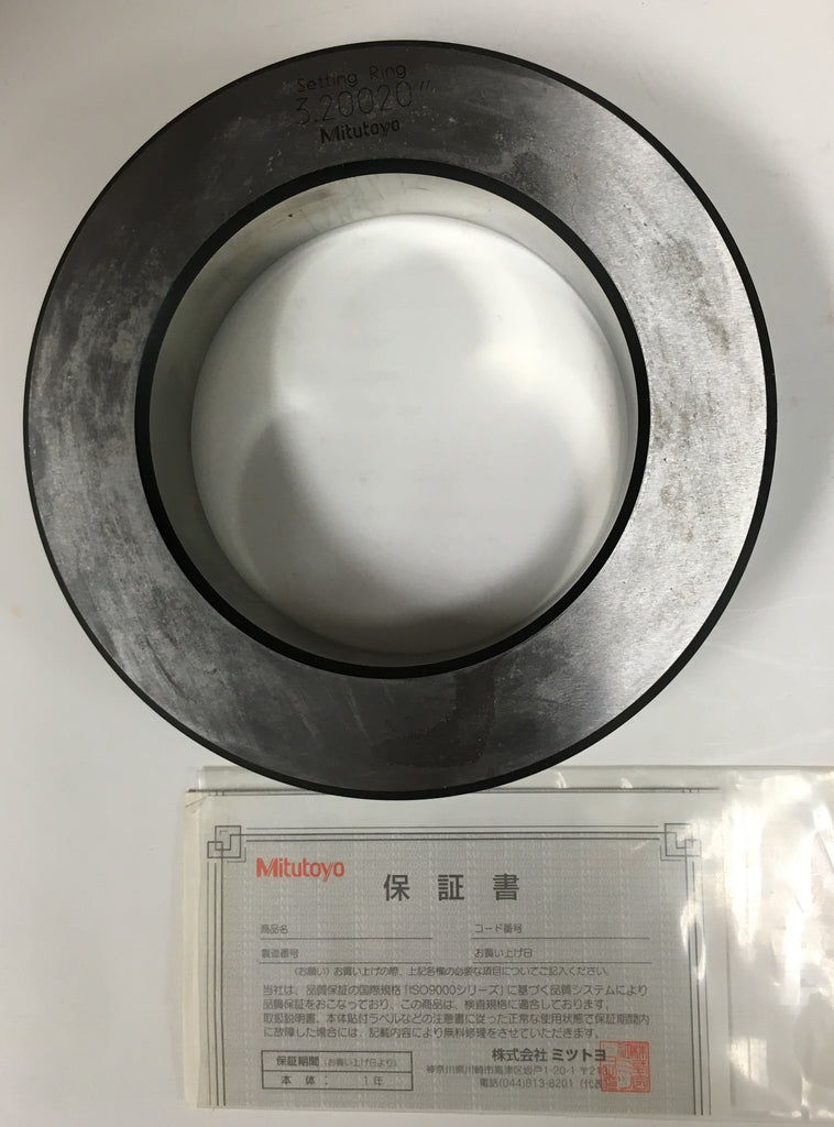 "Mitutoyo 177-295 Setting Ring, 3.2"" Size *DEMO*"