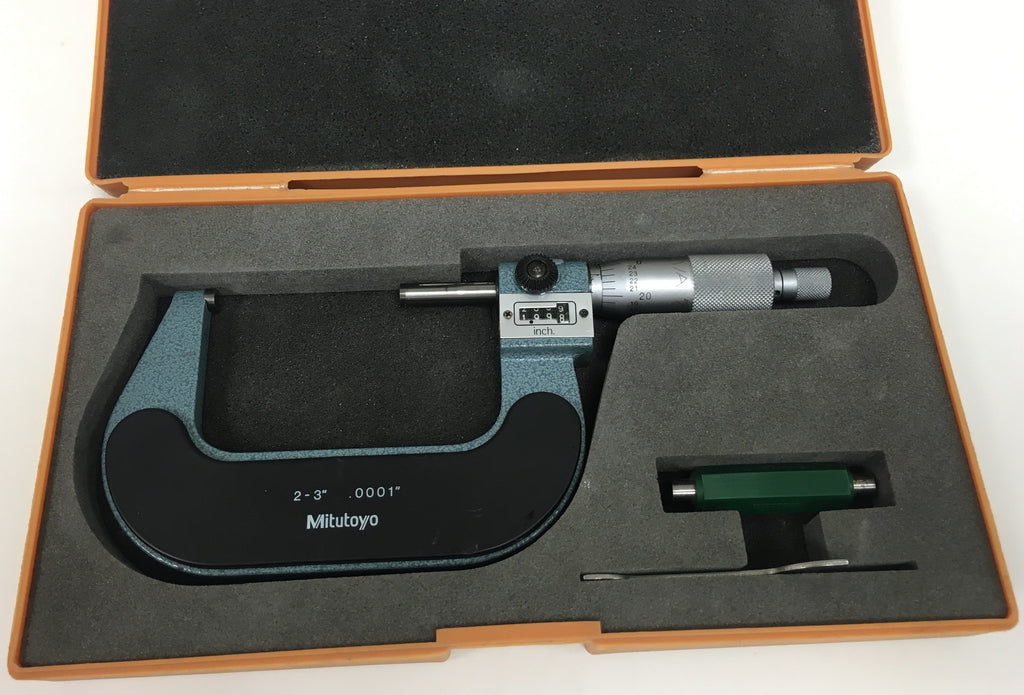 "Mitutoyo 193-213 Rolling Digital Outside Micrometer, 2-3"" Range, .0001"" Graduation *USED/RECONDITIONED*"