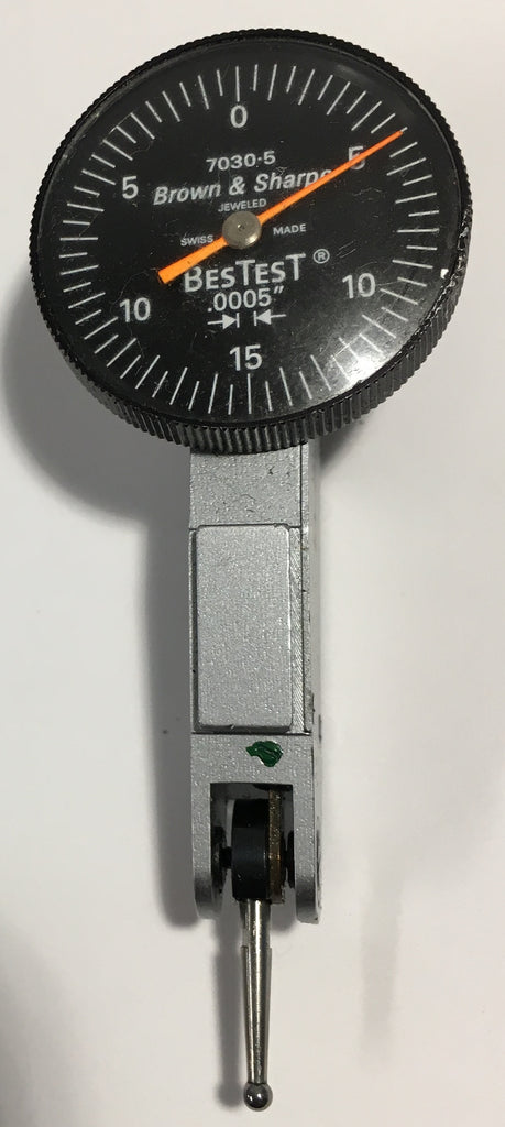 "Brown & Sharpe 599-7030-5 BesTest Dial Test Indicator, .030"" Range, .0005"" Graduation *USED/RECONDITIONED*"