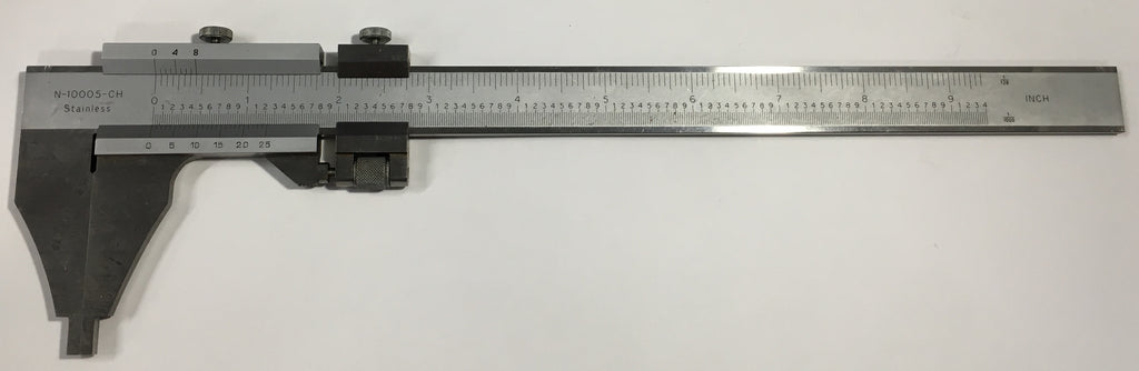 "Stainless Steel Vernier Caliper with Nib Style Jaws, 0-8"" Range, .001"" Graduation *USED/RECONDITIONED*"