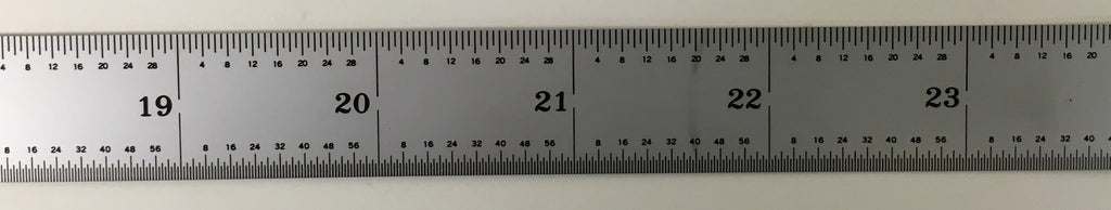 "Mitutoyo 182-261 Steel Rule, 24"" (4R), (1/8, 1/16, 1/32, 1/64""), 1/64"" Thick X 3/4"" Wide *New - Open Box"
