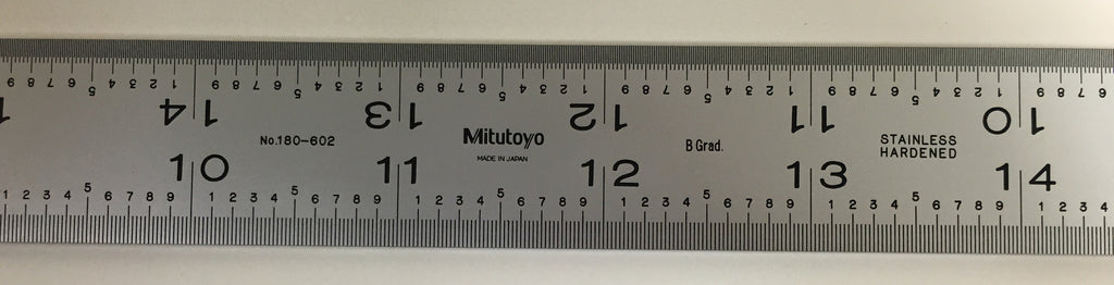 "Mitutoyo 180-602 Steel Blade for Combination Square, 24"" (16R) (1/32"", 1/64"", 1/50"", 1/100"") *New - Open Box"