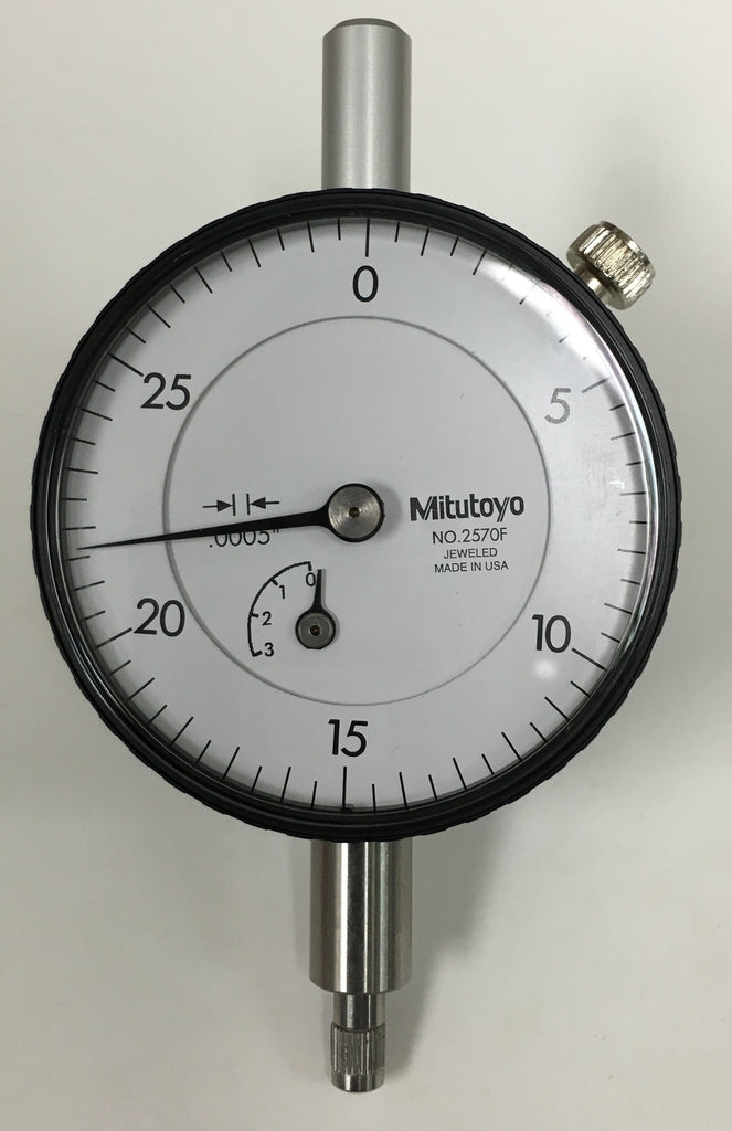 "Mitutoyo 2570F Dial Indicator, 0-.075"" Range, .0005"" Graduation *USED/RECONDITIONED*"