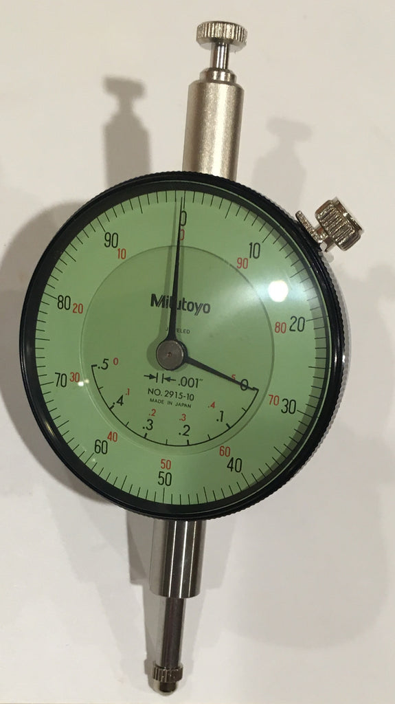 "Mitutoyo 2915-10 Dial Indicator, 0-.5"" Range, .001"" Graduation *New - Open Box Item"
