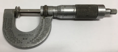 "Brown & Sharpe 215 Disc Micrometer, 0-1"" Range, .001"" Graduation *USED/RECONDITIONED**"