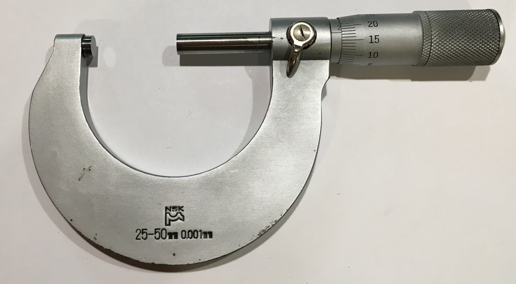 Fowler 52-235-102 NSK Outside Micrometer 25-50mm Range, 0.001mm Graduation *USED/RECONDITIONED*