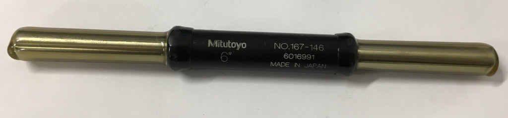 "Mitutoyo 167-146 Micrometer Standard Bar, 6"" Length, .37"" Diameter *New-Open Box Item"