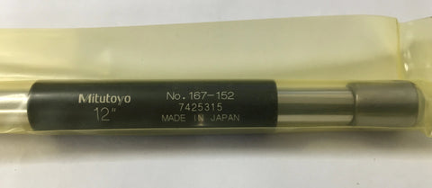 "Mitutoyo 167-152 Micrometer Standard Bar, 12"" Length, .37"" Diameter *New-Open Box"