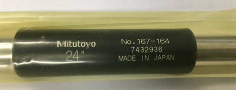 "Mitutoyo 167-164 Micrometer Standard Bar, 24"" Length, .47"" Diameter *New-Open Box"