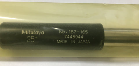 "Mitutoyo 167-165 Micrometer Standard Bar, 25"" Length, .47"" Diameter *New-Open Box"