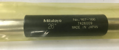 "Mitutoyo 167-166 Micrometer Standard Bar, 26"" Length, .47"" Diameter *New-Open Box"