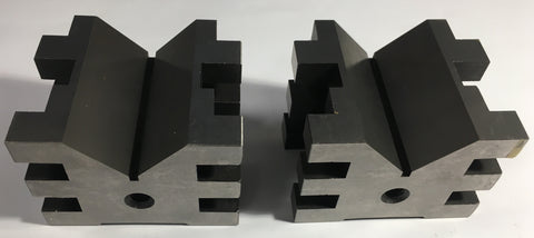"Fowler 52-475-555 Hardened Steel V-Block Set without Clamps, 2"" H x 2.75"" L x 2"" W *NEW-CLOSEOUT*"