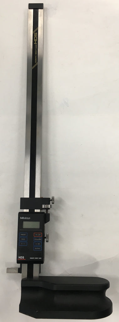 "Mitutoyo 570-234 Digimatic Height Gage, 0-18""/0-450mm Range, .0005 /0.01mm Resolution *USED/RECONDITIONED*"