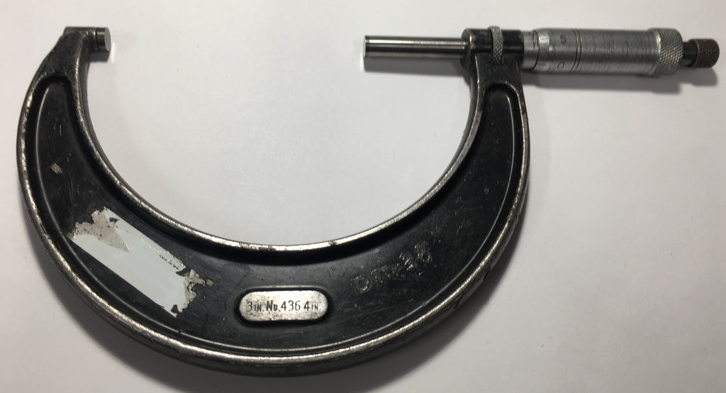 "Starrett 436XRL-4 Outside Micrometer, 3-4"" Range, .001"" Graduation *USED/RECONDITIONED*"