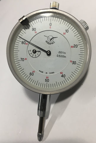 "Aerospace Dial Indicator, 0-.500"" Range, .001"" Graduation  *DEMO*"