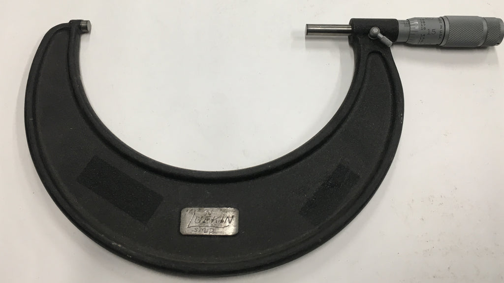 "Lufkin 196-6 Outside Micrometer, 5-6"" Range. .001"" Graduation *USED/RECONDITIONED*"