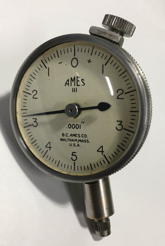 "B.C. Ames Dial Indicator with Lug Back, 0-.025"" Range, .0001"" Graduation *USED/RECONDITIONED*"
