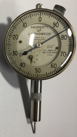 "B.C. Ames Dial Indicator Depth Gage, 0-.400"" Range, .001"" Graduation *USED/RECONDITIONED*"
