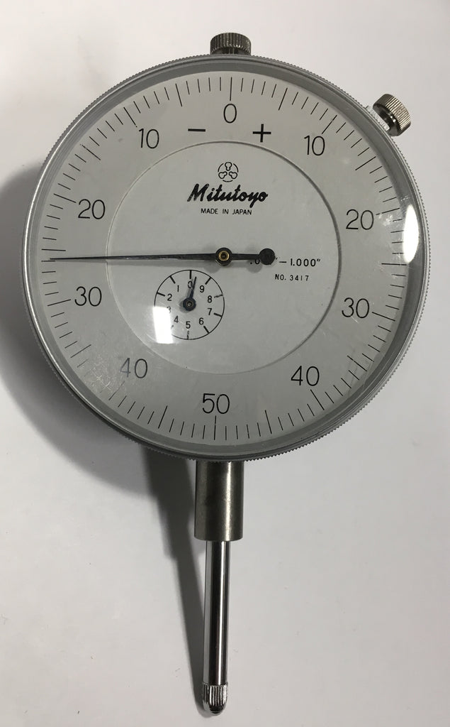 "Mitutoyo 3417 Dial Indicator, 0-1"" Range, .001"" Graduation *USED/RECONDITIONED*"