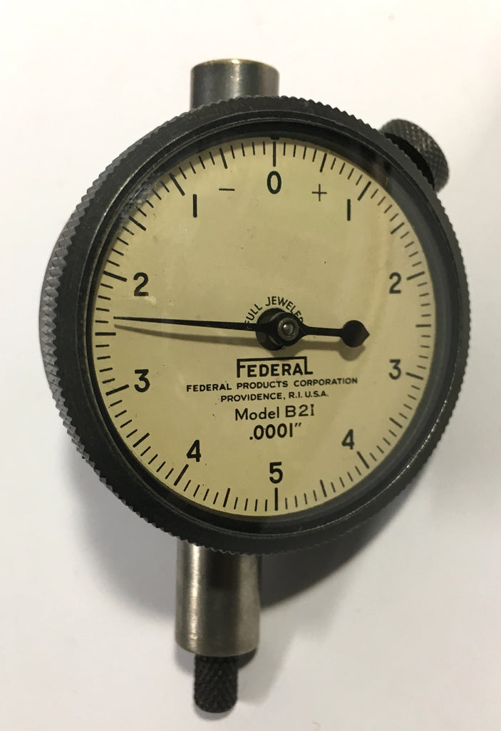 "Federal D2I Dial Indicator .0001/"" Graduation 0-5-0 Dial *USED 0-.025/"" Range"