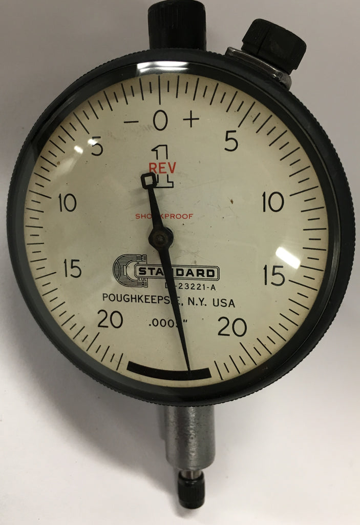 "Brown & Sharpe Standard Gage D1-23221-A Dial Indicator, 0-.250"" Range, .0005"" Graduation *USED/RECONDITIONED*"