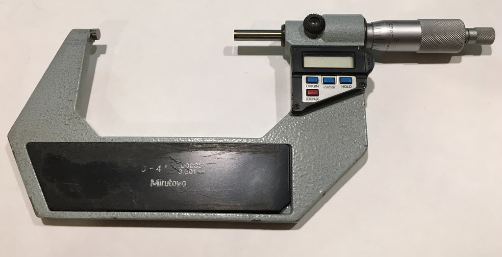 "Mitutoyo 293-724-10 Digimatic Micrometer, 3-4""/75-100mm Range, .00005""/0.001mm Resolution *USED/RECONDITIONED*"