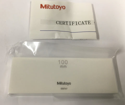 Mitutoyo 613681-516 Rectangular Ceramic Gage Block, ASME Grade K, 100mm Length