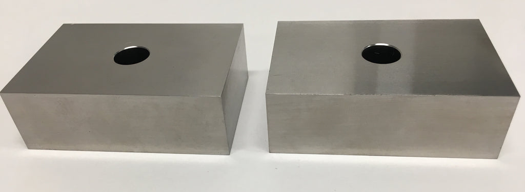 Fowler 52-439-001 Steel 1-2-3 Blocks Set of 2 Blocks with 1 Hole *New - Open Box