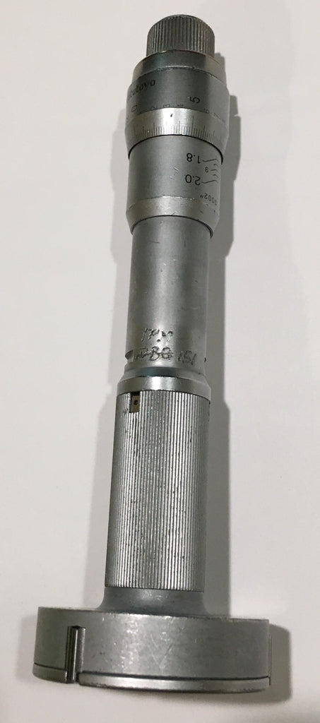 "Mitutoyo 368-211 Holtest Three-Point Internal Micrometer with Carbide Pins, 1.8-2.0"" Range, .0002"" Graduation  *USED/RECONDITIONED*"