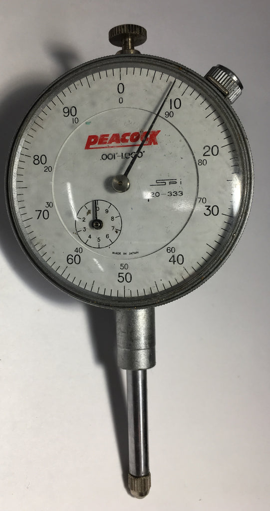 "Swiss Precision Instrument Peacock 20-333 Dial Indicator, 0-1"" Range, .001"" Graduation *USED/RECONDITIONED*"