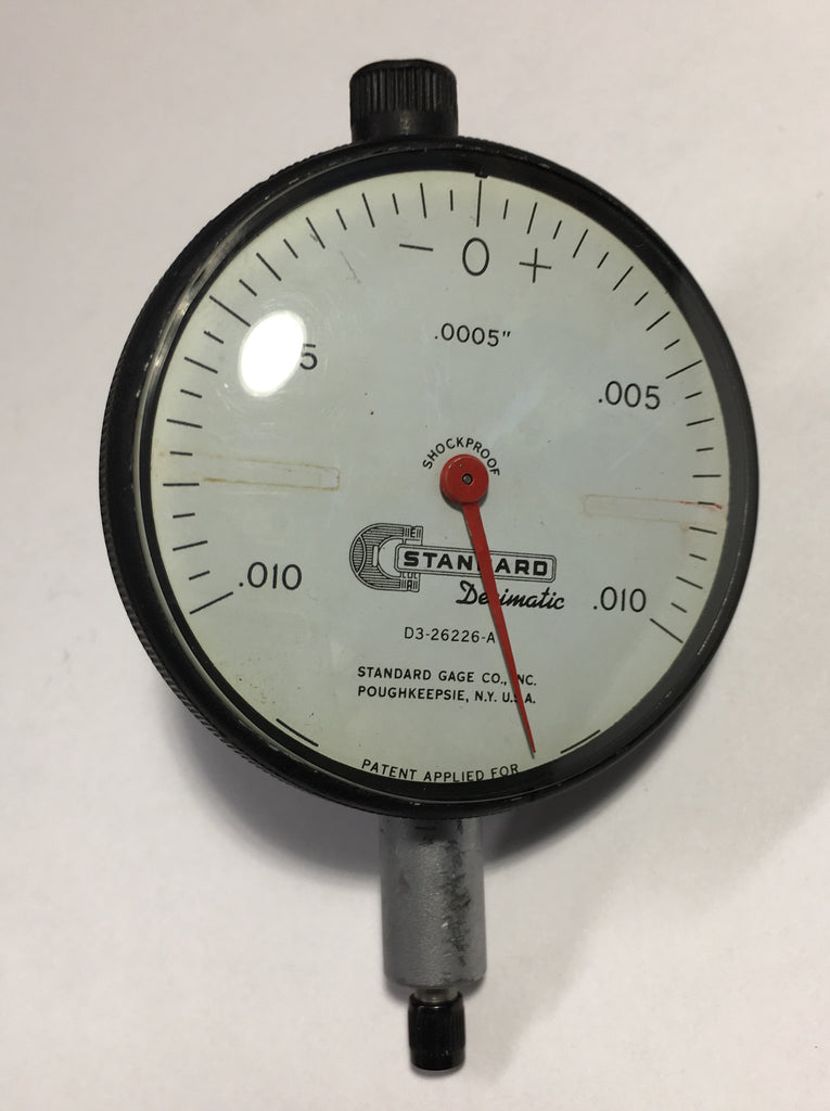 "Brown & Sharpe Standard Gage D3-26226-A Dial Indicator, 0-.075"" Range, .0005"" Graduation *USED/RECONDITIONED*"